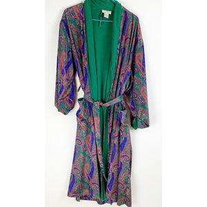 VTG Victoria's Secret Paisley 80s Robe Housecoat